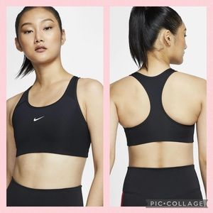 Nike Swoosh Medium Support Black Sports Bra